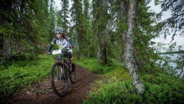 Ylläs-Levi MTB uusi Ylläs-Levi maastopyöräreitti on kokonaisuudessaan 55 km pitkä, lyhyempi 30 km reitti kulkee Pyhäjärveltä Leville. Kuva: yllas.fi/Teemu Moisio