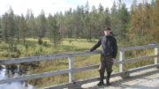 Tuomo Liikanen metsäarviointireissulla Vuotsossa. Kuva Tuomo Liikanen.